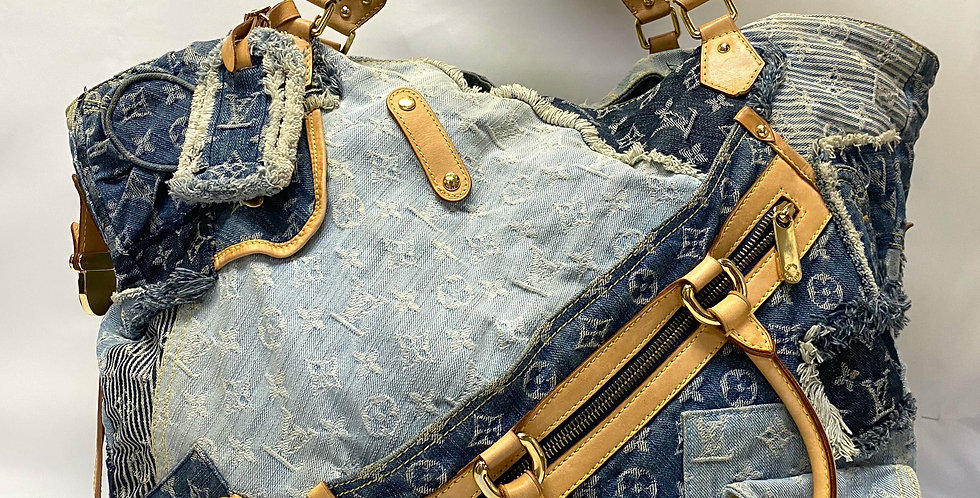 Louis Vuitton ULTRA RARE Denim Patchwork Cabby Bag