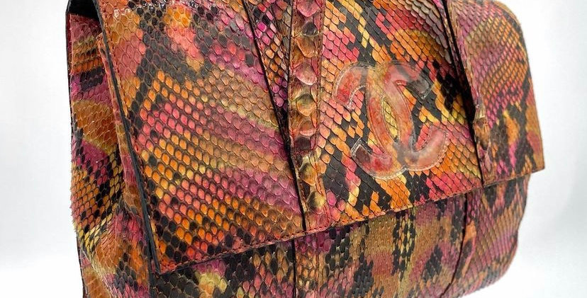 Chanel Limited Edition Python Snakeskin Purse