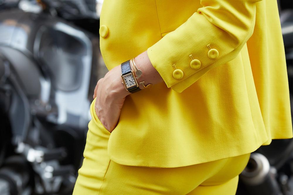 K3|fashion yellow suit woman