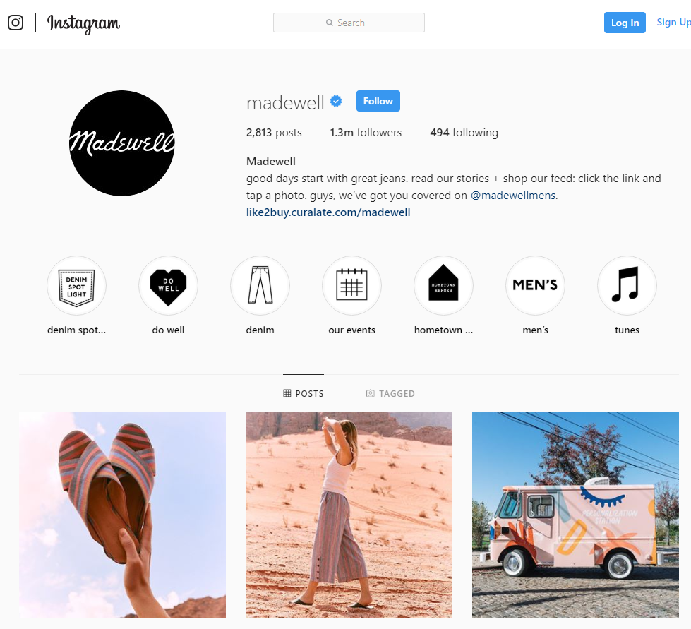 fashion brand instagram