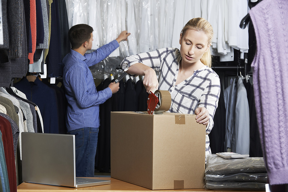 woman working in apparel supply chain