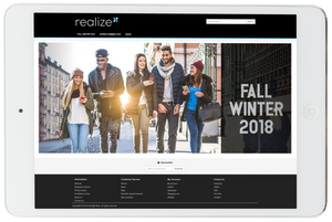 B2B fashion ecommerce homepage