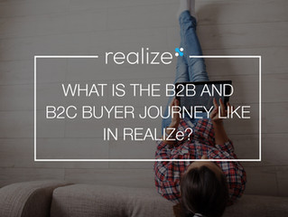 What is the B2B and a B2C buyer journey like in REALIZe?