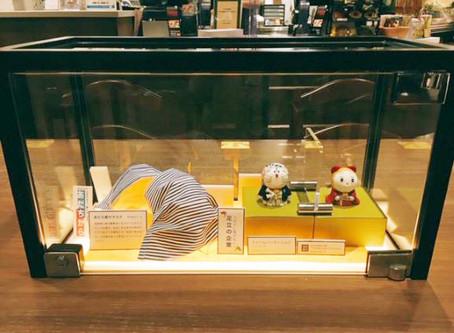 自社商品アクリルパーテーション ミニチュア版の展示