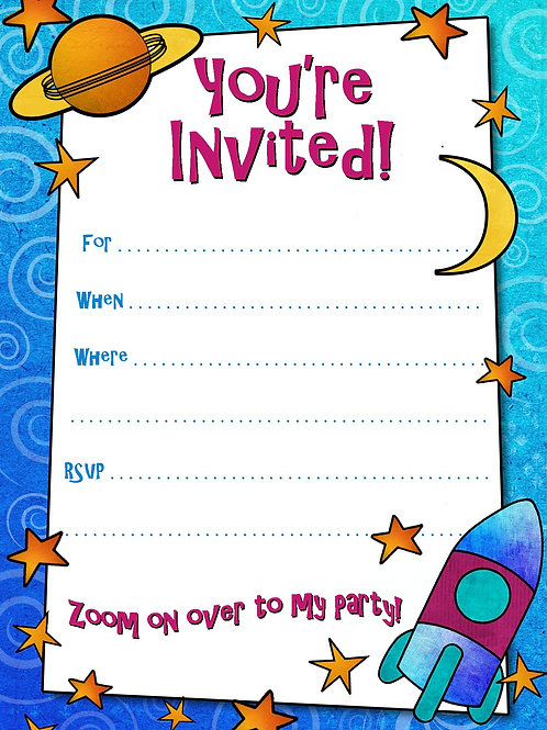 Kids Birthday Invitation Cards