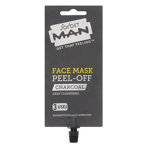 Sorbit Man Face Mask Peel-off Charcoal