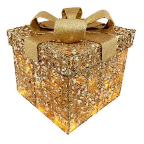 Christmas Gift Box With Lights (Large)