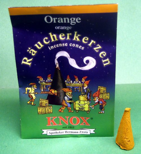 """#014-200 - Famous KNOX Brand """"Orange"""" Incense Cones - 5 pc Sample Packet"""