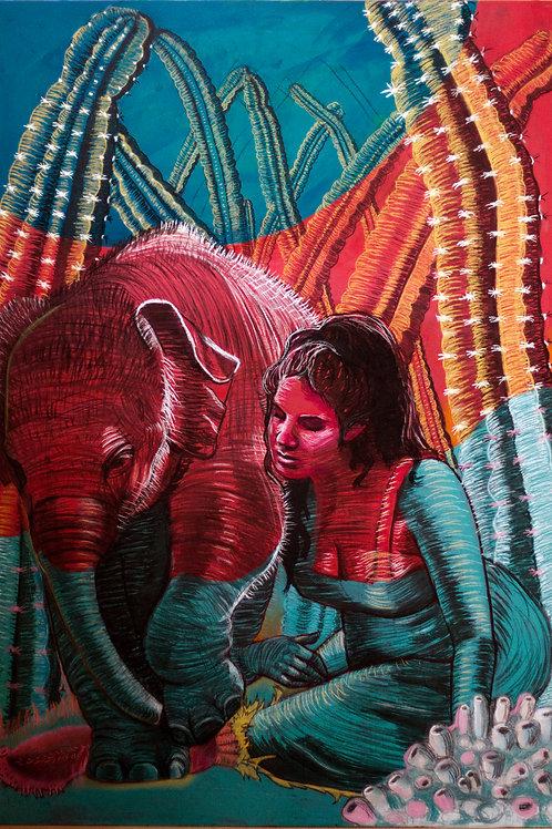 Ilustración s/madera 90x130cm