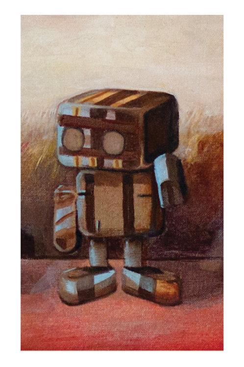 CUADRITOS ROBOTS 13X18 ENMARCADOS