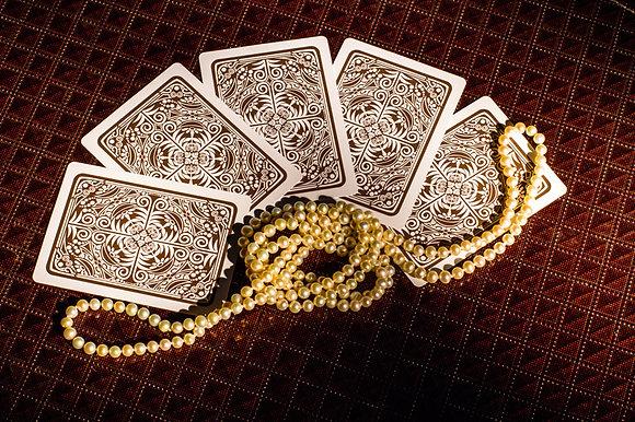"""Prestige"" 100% Plastic Poker/Jumbo/Brown"