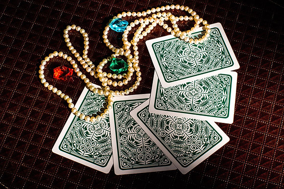"""Prestige"" 100% Plastic Poker/Jumbo/Green"