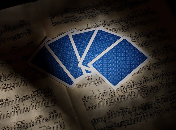 """Classic"" 100% Plastic Poker/Jumbo/Blue"