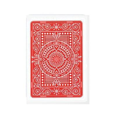 Texas 100% Plastic Poker/Jumbo Red.
