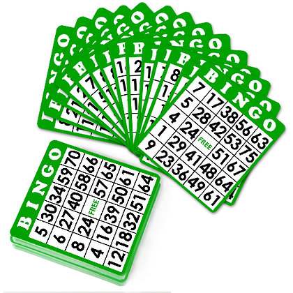 25 Bingo Cards - GREEN