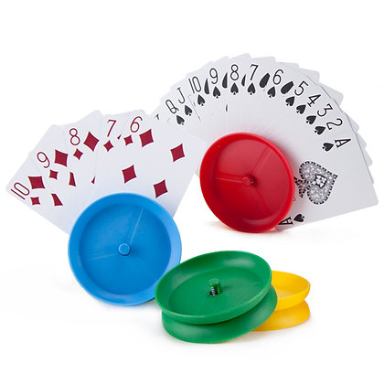 4 Circle-shaped Hands-free Playing Card Holders