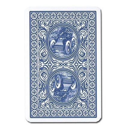 Gold Trophy 100% Plastic 4-PIP Poker/Regular Blue
