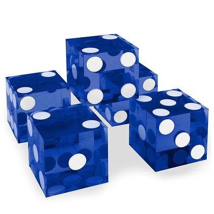5x BLUE precision dice - 19mm