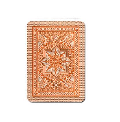 Cristallo 100% Plastic 4 PIP Poker/Jumbo Orange.