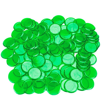 100 Bingo Chips - GREEN