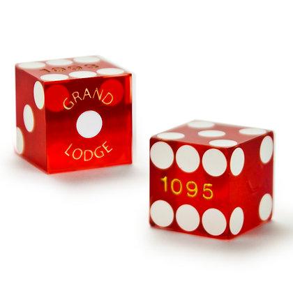 19mm Grand Lodge Vegas Precision Dice x 2