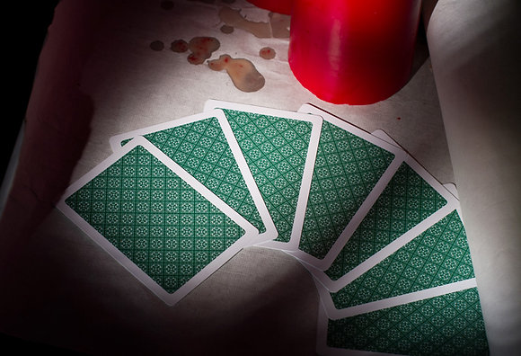 """Classic"" 100% Plastic Poker/Jumbo/Green"