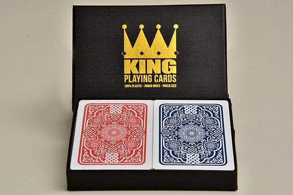 "Twin Deck ""Medieval"" 100% Plastic Poker/Jumbo"