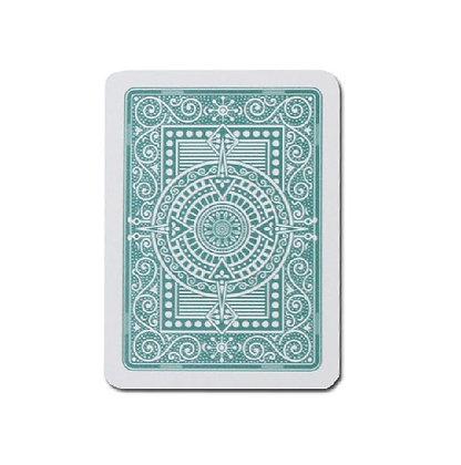 Texas 100% Plastic Poker/Jumbo Dk Green.
