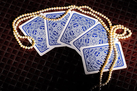 """Prestige"" 100% Plastic Poker/Jumbo/Blue"