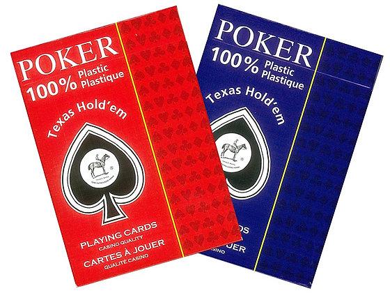 Piatnik 100% plastic poker/jumbo (Peek) playing cards Red/Blue (2 Decks)