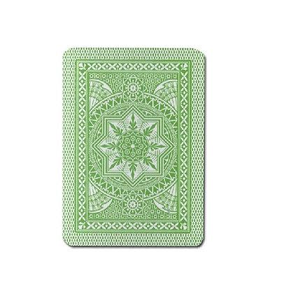 Cristallo 100% Plastic 4 PIP Poker/Jumbo Lt Green.