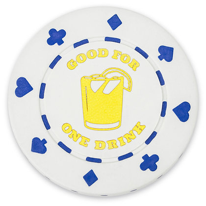 Bar Drink Tokens (Cocktail) White, x 25