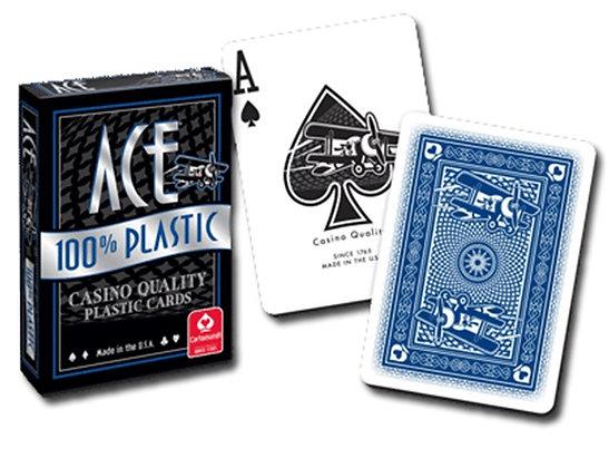 Ace 100% Plastic Poker/Regular - Blue