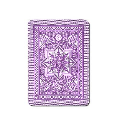 Cristallo 100% Plastic 4 PIP Poker/Jumbo Purple.