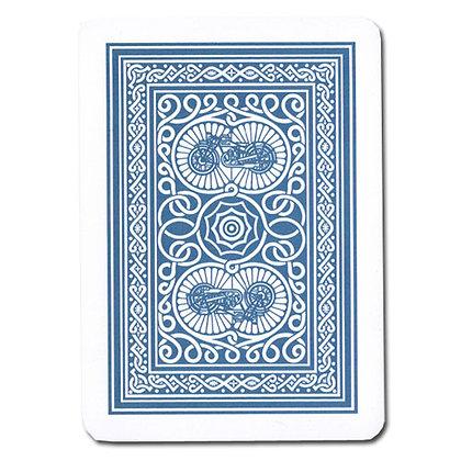 Old Trophy 100% Plastic 4-PIP Poker/Regular Blue