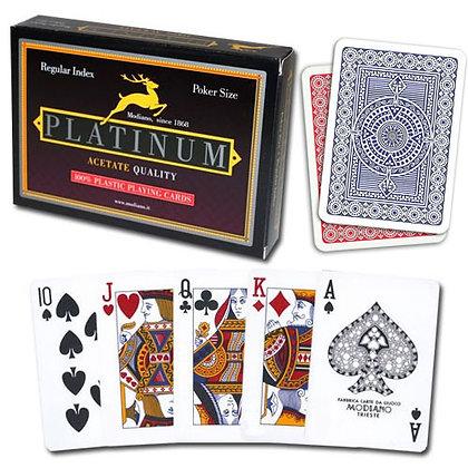 Platinum 100% Plastic Poker/Regular