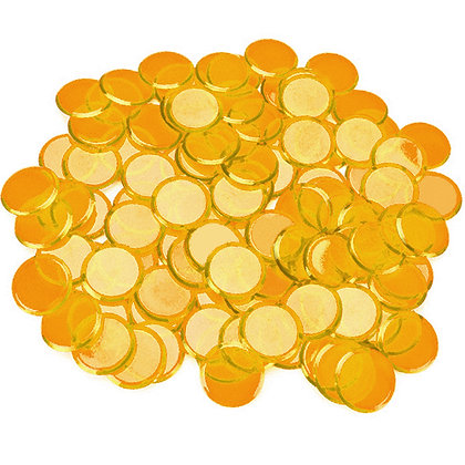 100 Bingo Chips - ORANGE