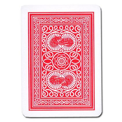 Old Trophy 100% Plastic 4-PIP Poker/Regular Red