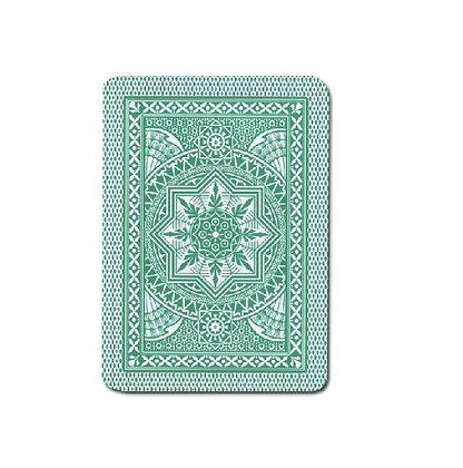 Cristallo 100% Plastic 4 PIP Poker/Jumbo Dk Green.