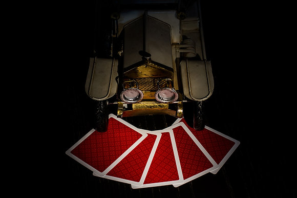 """Classic"" 100% Plastic Poker/Jumbo/Red"