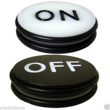 """3"""" acrylic 2-sided craps on/off puck"""