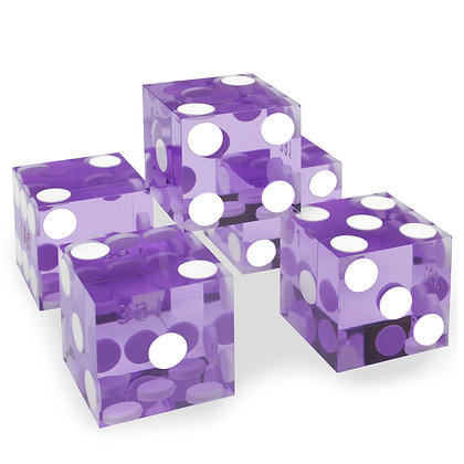 5x PURPLE precision dice - 19mm