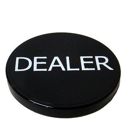"""2"""" plastic black dealer button"""