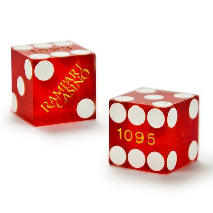 19mm Rampart Casino Precision Dice x 2