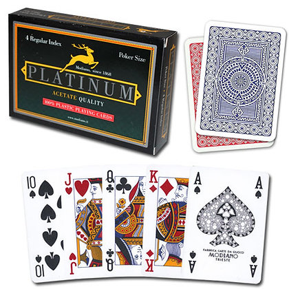 Platinum 100% Plastic 4 PIP Poker/Regular