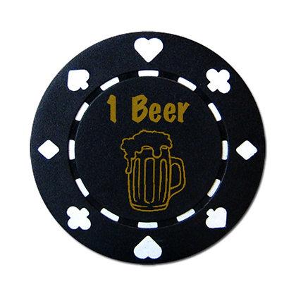 Bar Drink Tokens (Beer) Black, x 25