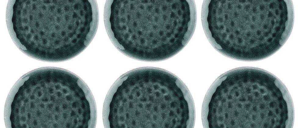Assiette MOON Ø28,5cm - 6 pièces - Pétrole