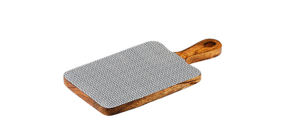 Planche de service en bois de manguier 15x30cm - Square Dark