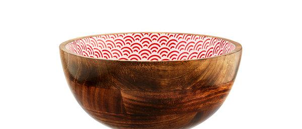 Saladier en bois de manguier Ø24cm - Rainbow Color