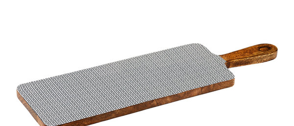 Planche de service en bois de manguier 15x50cm - Square Dark